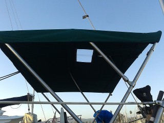 Ventura Sailboat Bimini Top With Eisenglass Window And